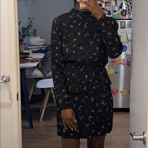 H&M long sleeve floral print dress